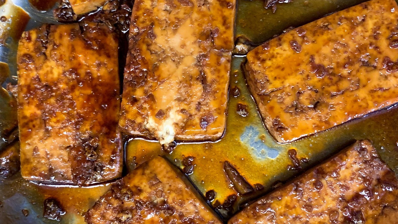 easy sweet and sour tofu that is pan fried