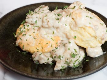 vegan biscuits and gravy recipe in the southern style