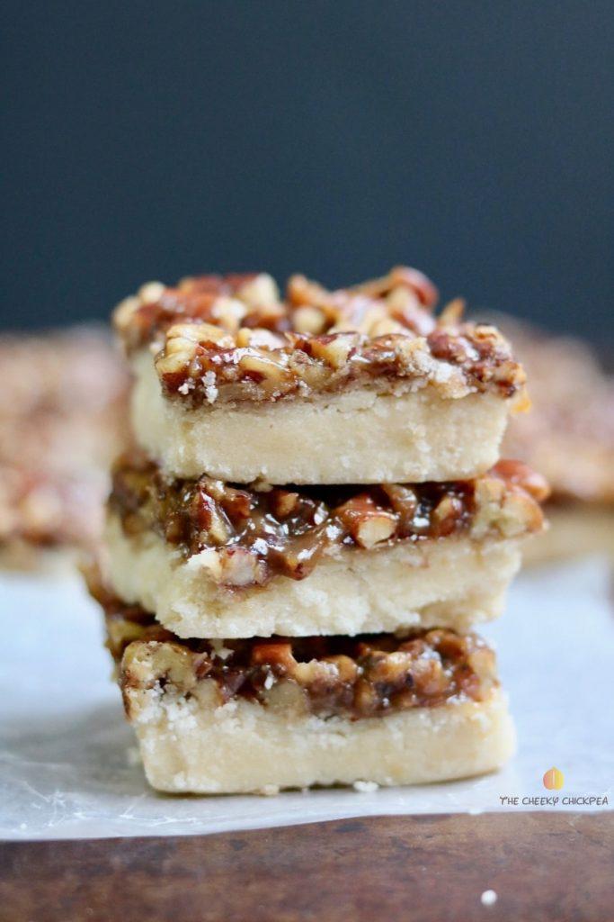 vegan salted caramel shortbread is the perfect christmas dessert