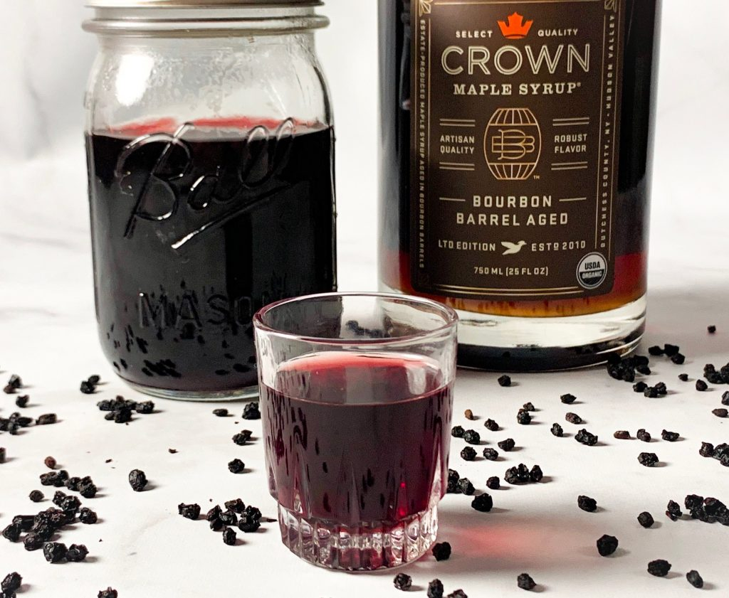 you take elderberry syrup in a shot glass form