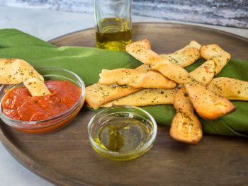 savory vegan breadsticks with garlic and parsley