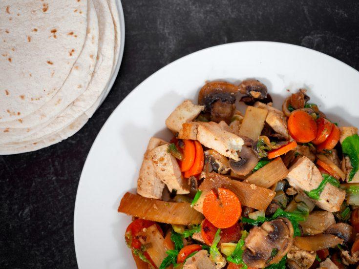 moo shu vegetables on plate