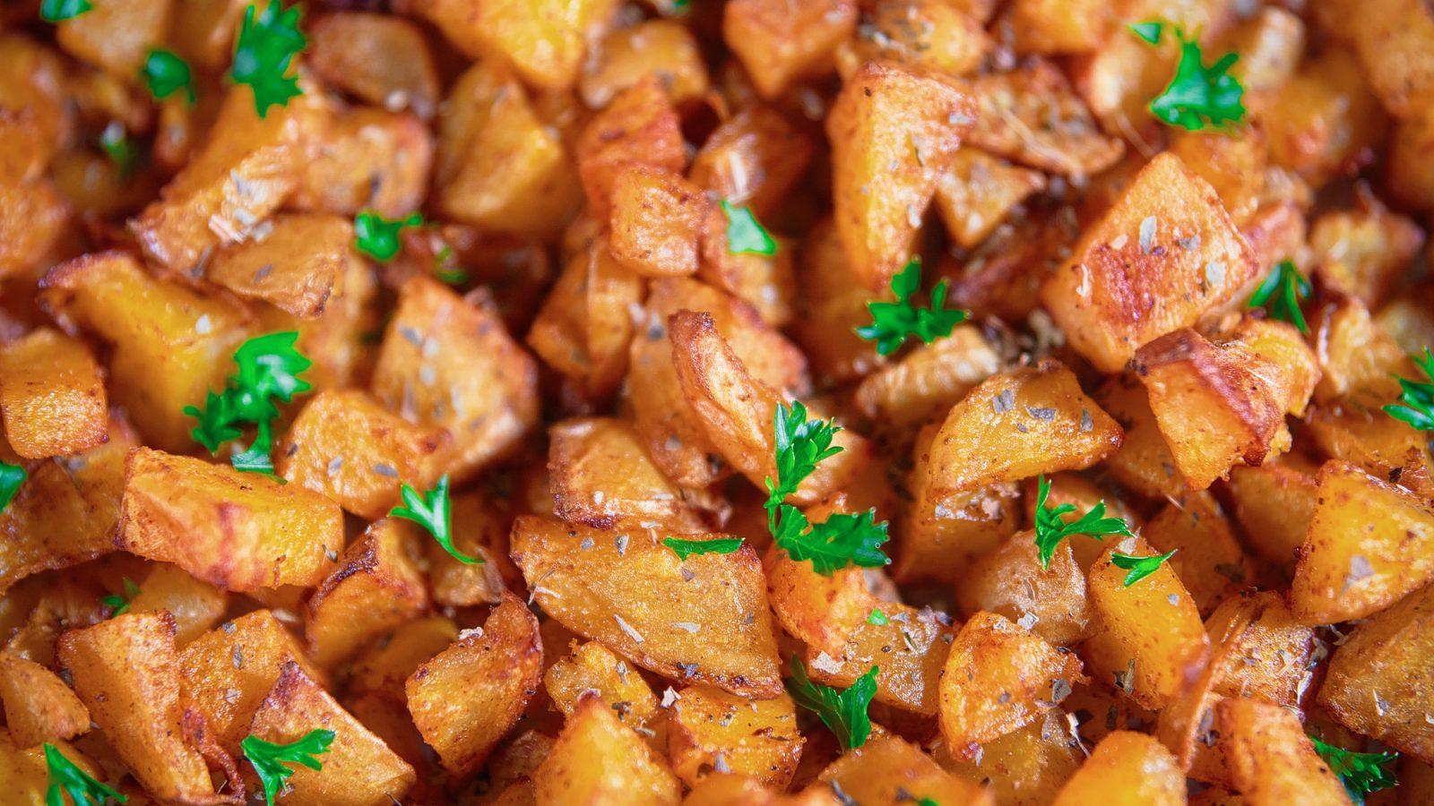 vegan oven roast potatoes
