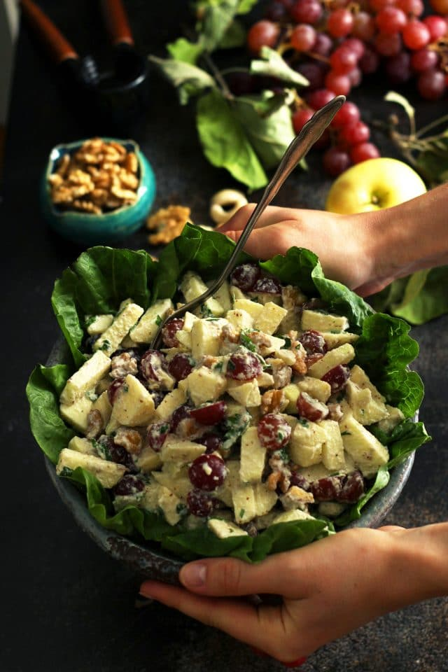 This recipe puts a vegan twist on the classic Waldorf salad