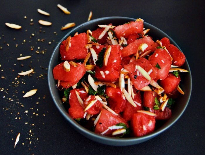 The watermelon makes this salad super unique