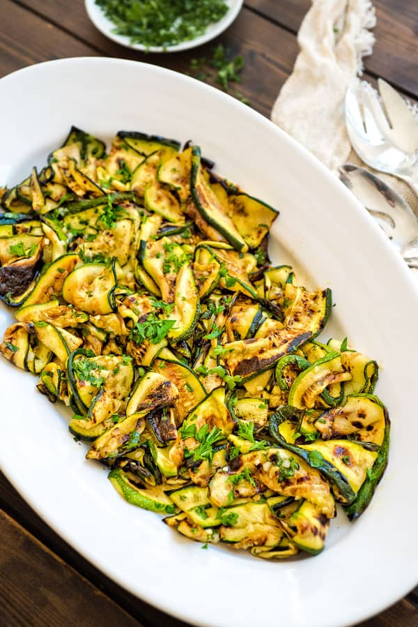This zucchini super flavorful
