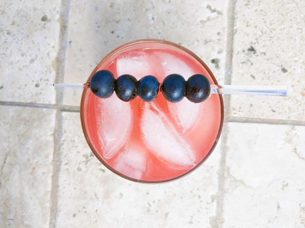 blueberry vodka drink from above
