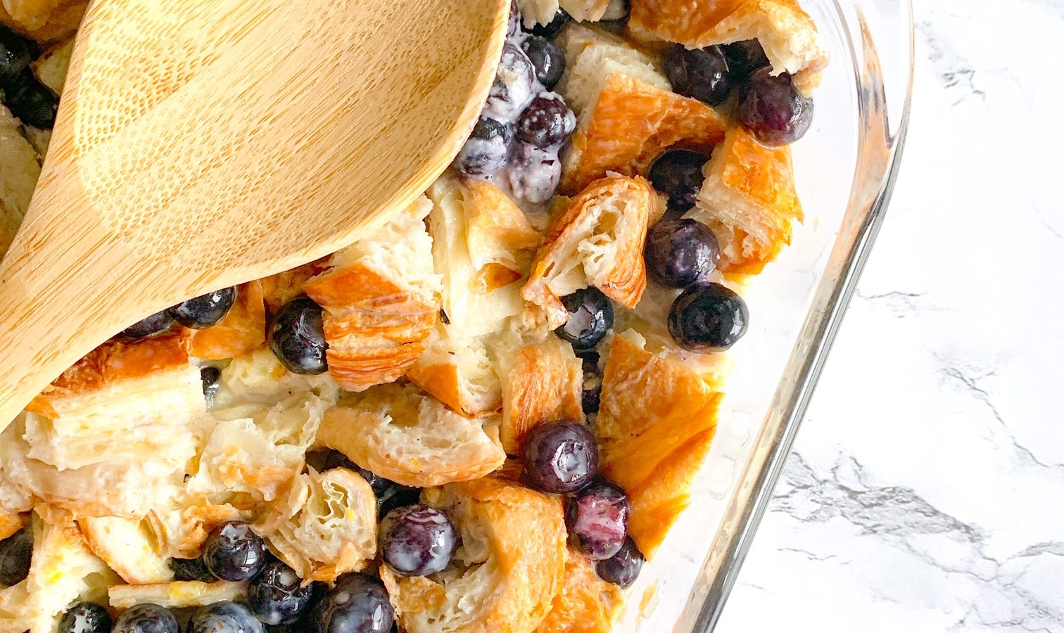 easy bread pudding with croissants