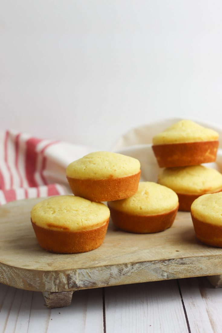 gluten free cornbread muffins on white table