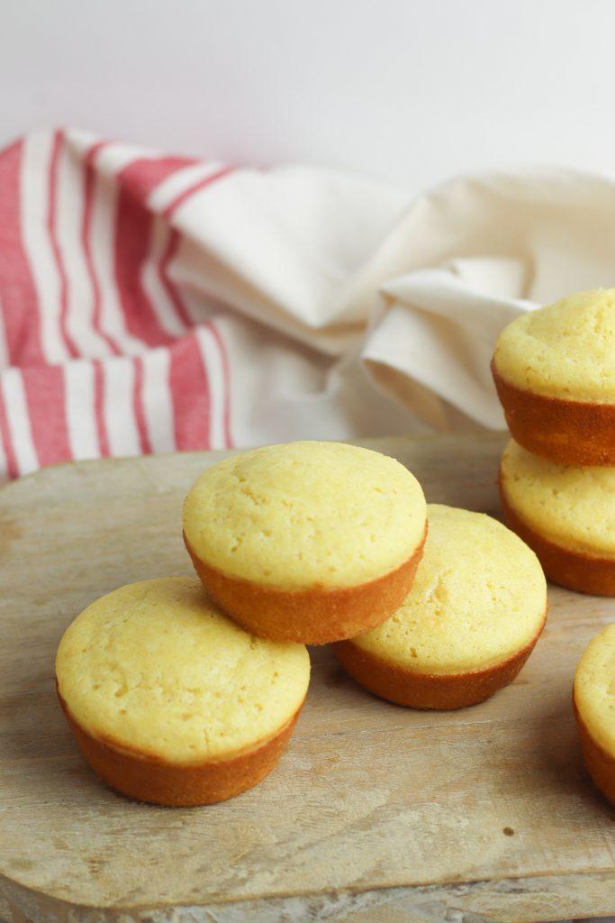 cornbread muffins on baking tin