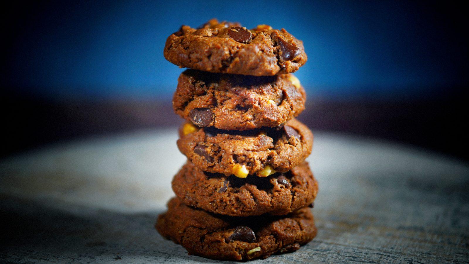 vegan chocolate cookies on a plate