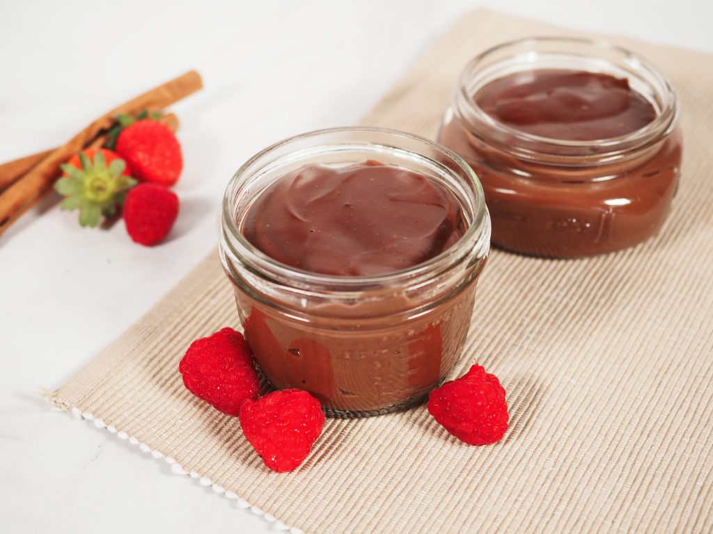 healthy pudding recipe in cup on table