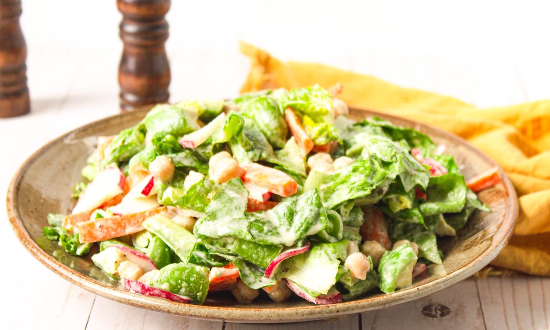 easy vegan chopped salad recipe