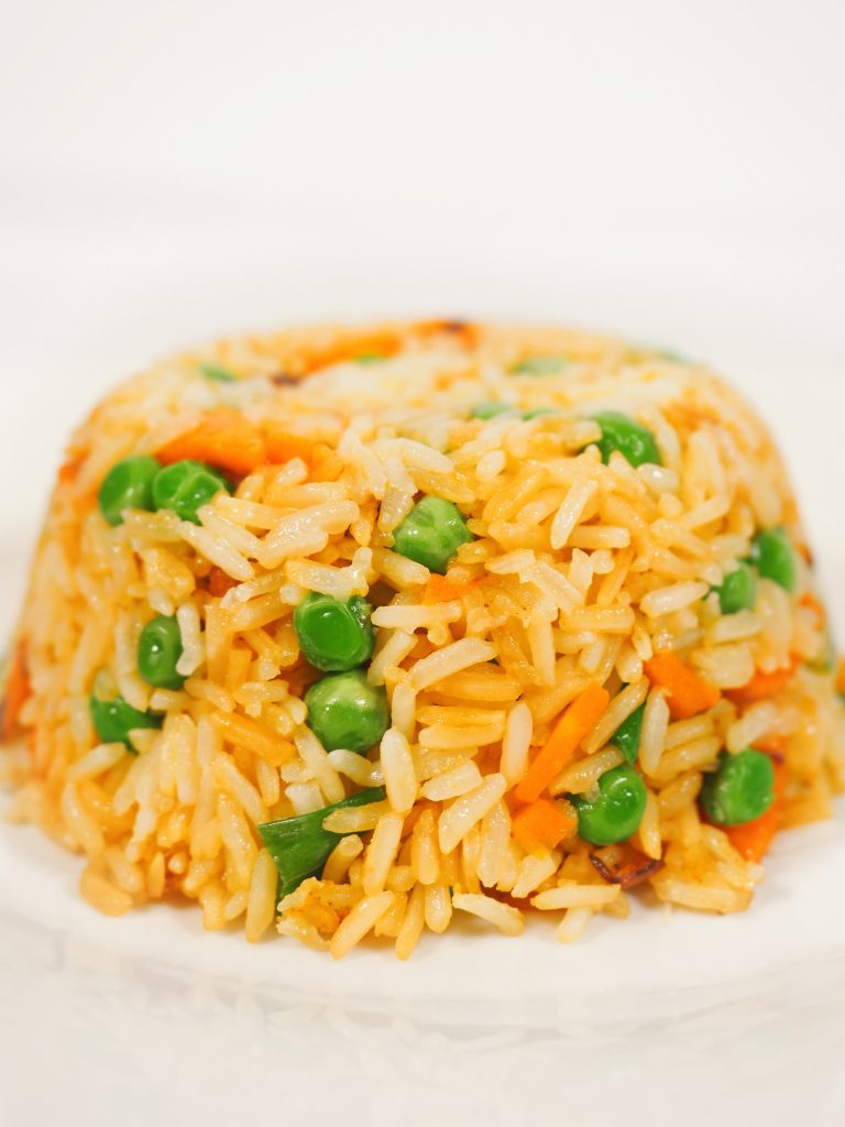 mound of vegan fried rice