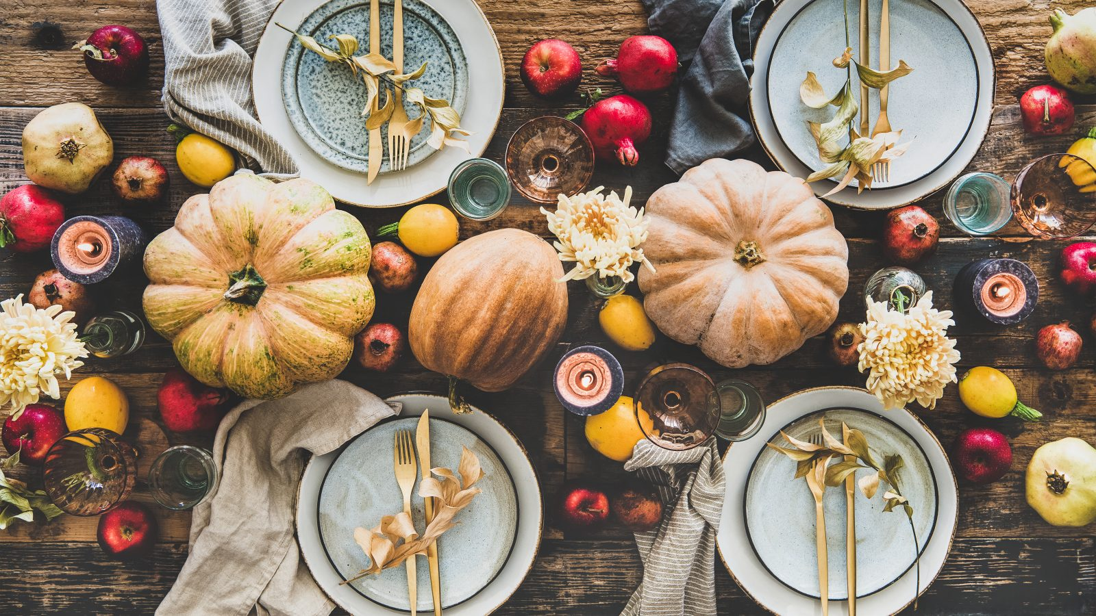 Photo of a Thanksgiving table setting