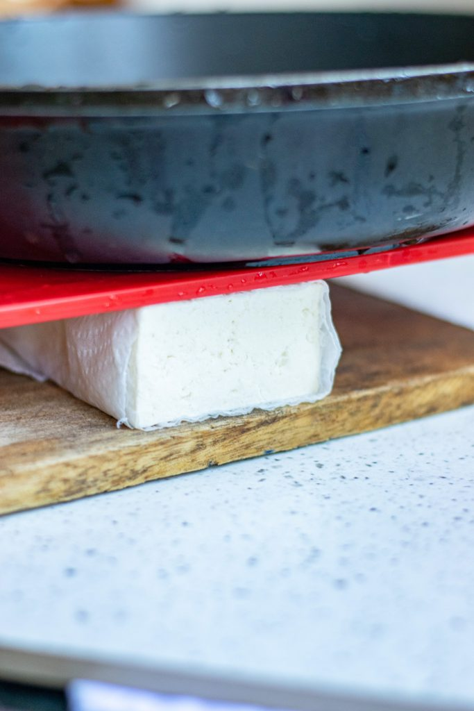 pressing out tofu before using it to make vegan sour cream