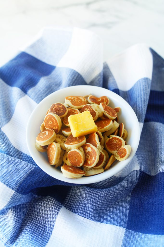 photo of pancake cereal with butter