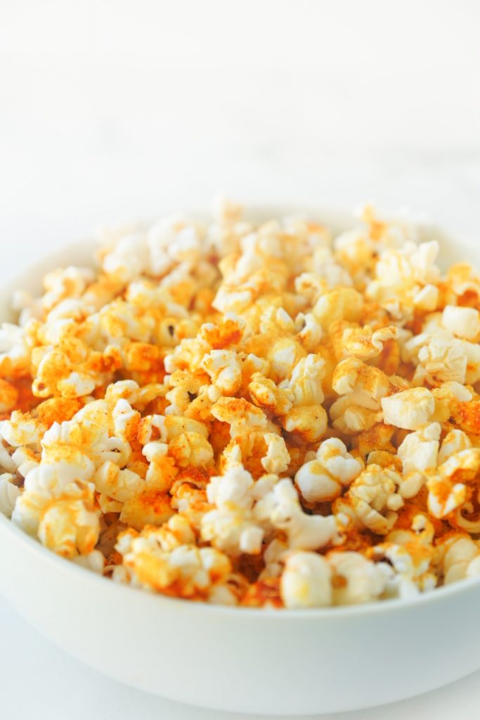 vegan popcorn with nutritional yeast