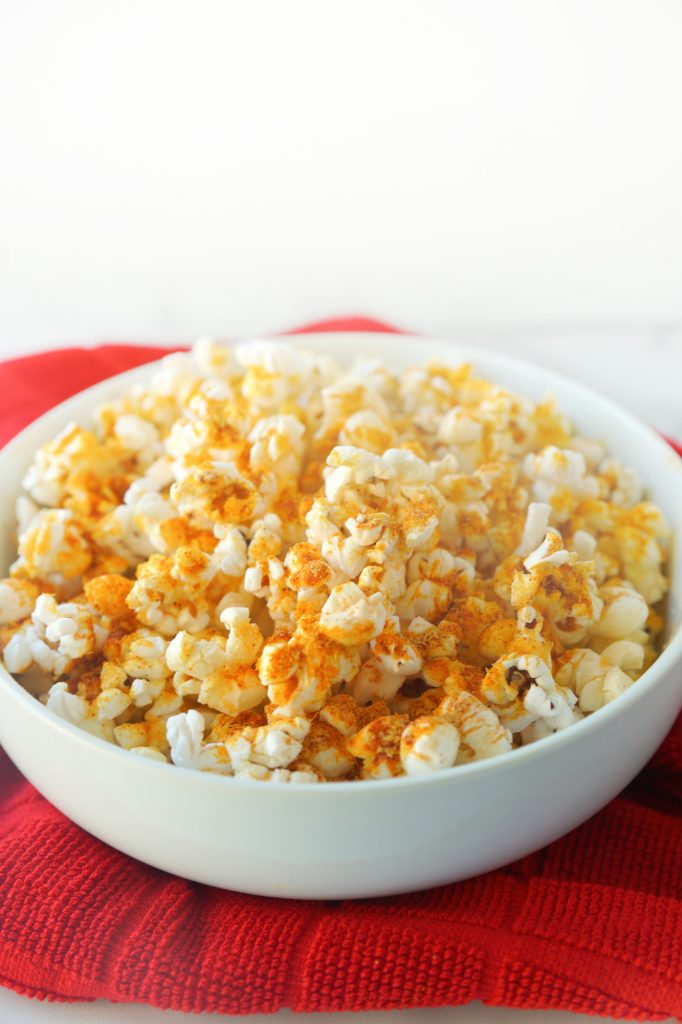 easy vegan popcorn with nutritional yeast