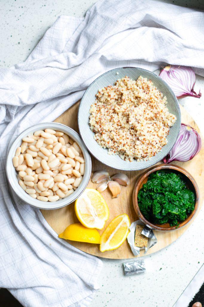 ingredients for white bean soup recipe that is vegan