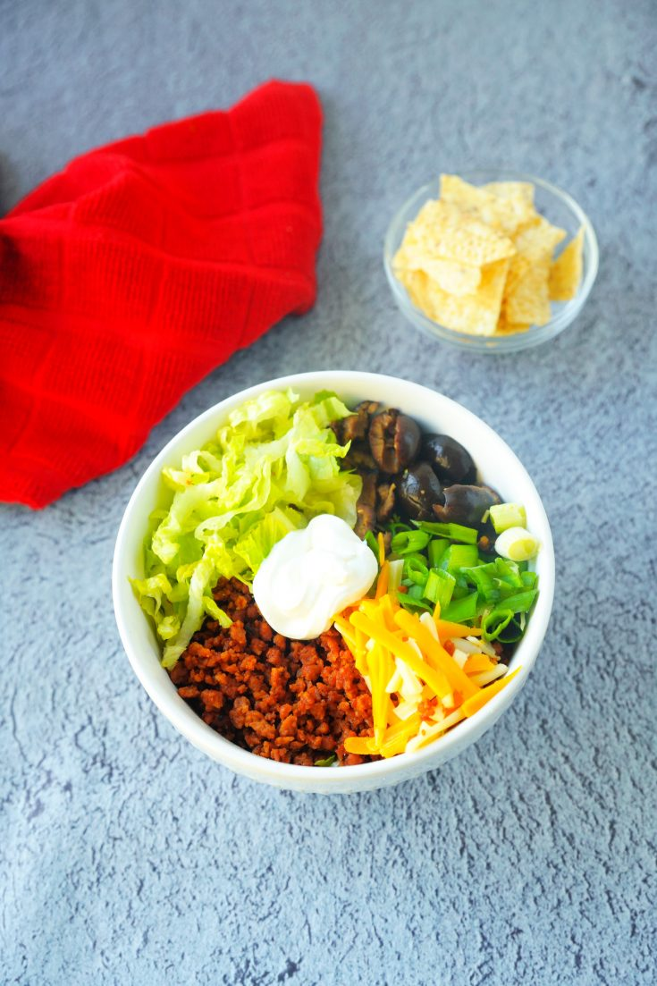 vegan burrito bowl with all the fixins