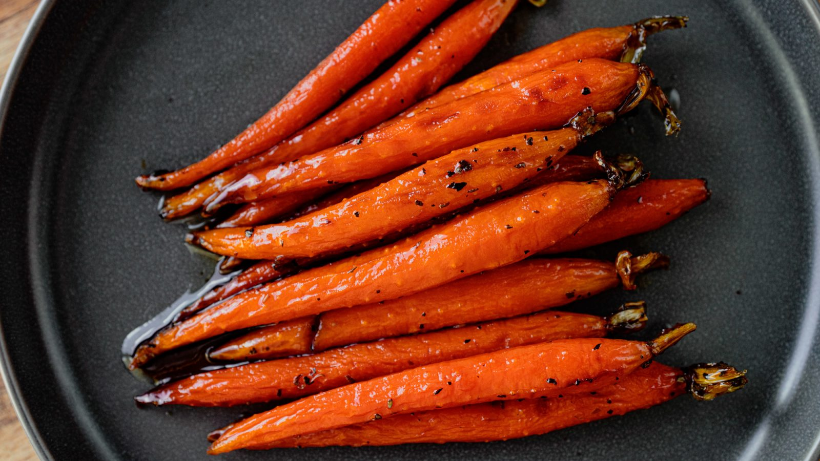 vegan maple glazed carrots on plate