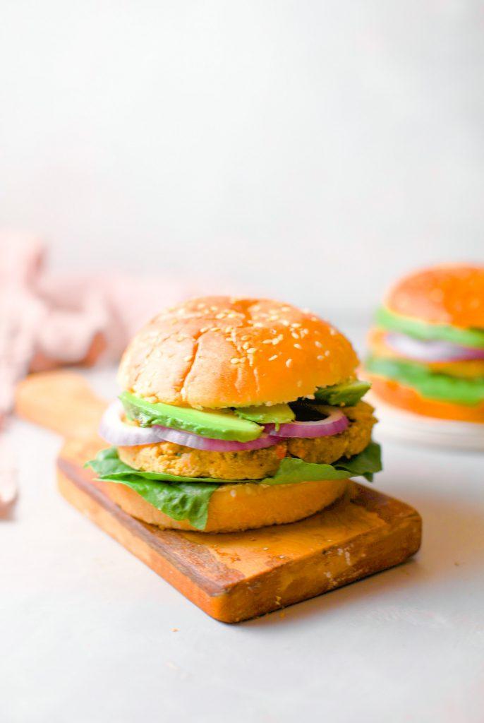 Vegan chickpea burgers