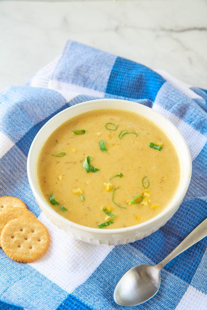 Corn Chowder Soup a vegan recipe