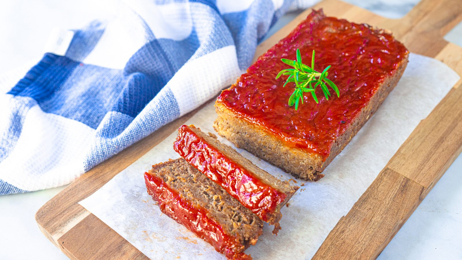vegan meatloaf on serving tray