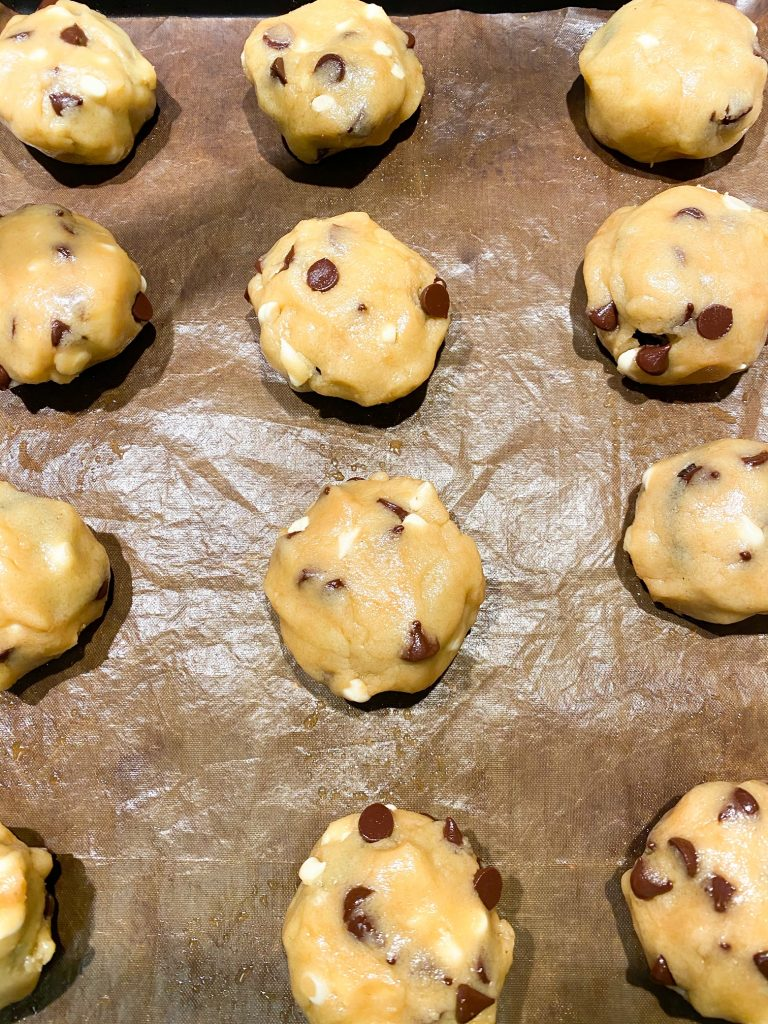 cookie dough balls for Oreo stuffed cookies