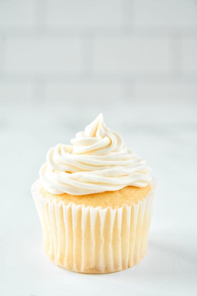 vegan vanilla frosting icing a vanilla cupcake