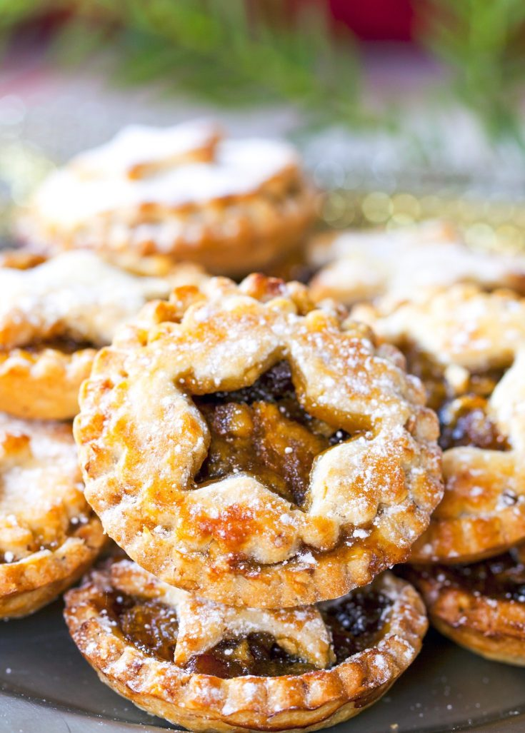 vegan mince pies with little cut outs