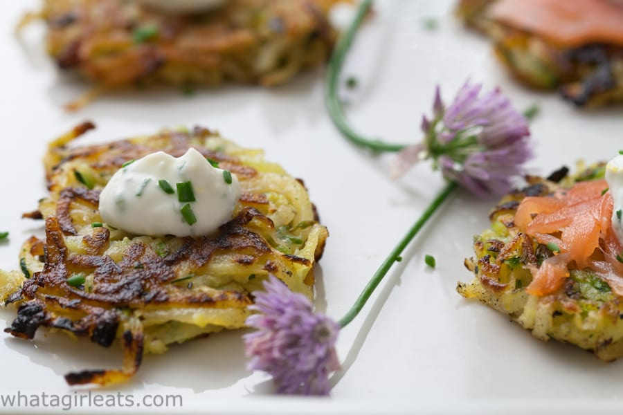 Photo of Herbed Vegetable Potato Pancakes.